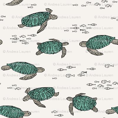 sea turtles // ocean nautical summer kids turtles reptiles