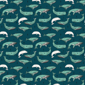 whales // ocean nautical summer kids animals blue water