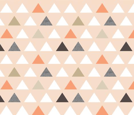 Blush Melon Triangles fabric by mrshervi on Spoonflower - custom fabric