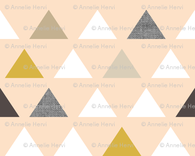 Gold Blush Triangles