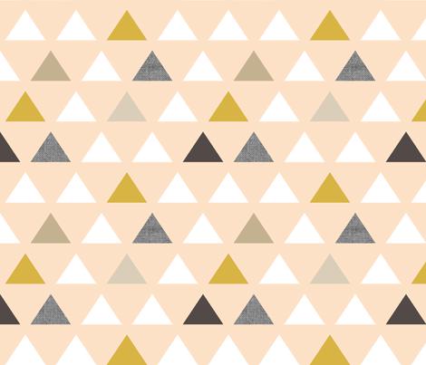 Gold Blush Triangles fabric by mrshervi on Spoonflower - custom fabric