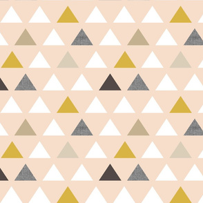 Gold Blush Triangles