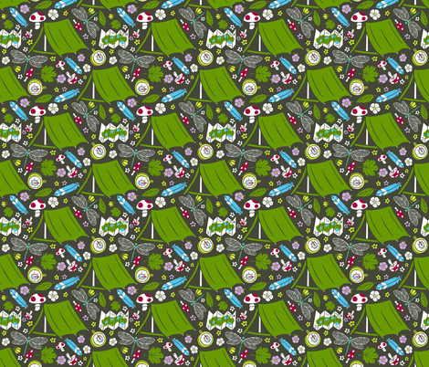 Explore the Great Outdoors fabric by jessiesima on Spoonflower - custom fabric