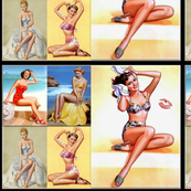 sweet pin up on the beach