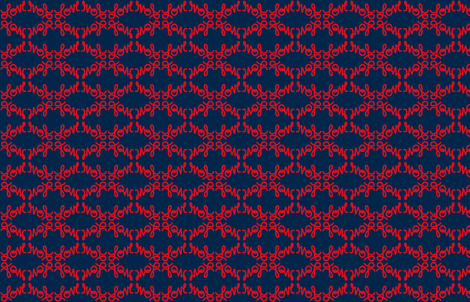 Navy Love in Red fabric by phatcatpatch on Spoonflower - custom fabric