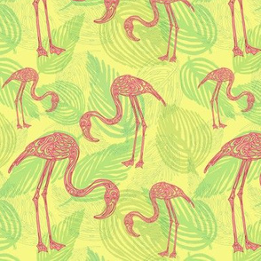 A Flamingo Flourish (yellow)