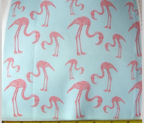 A Flamingo Flourish (blue & coral)