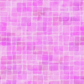double watercolor squares in orchid