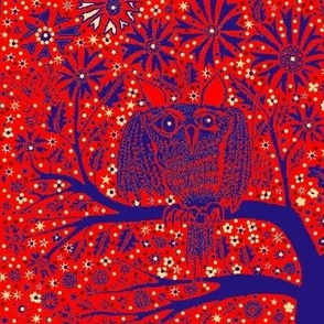 Owl Tree red