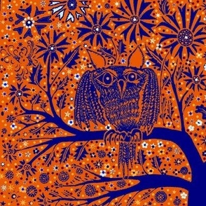 Owl Tree orange purple