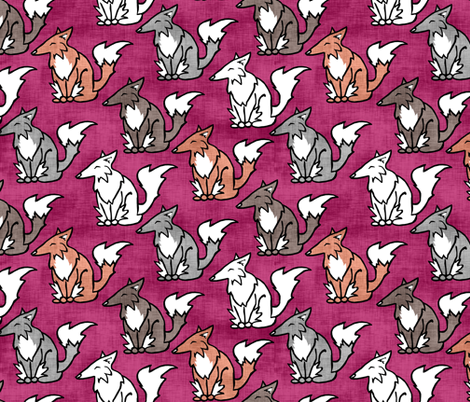 All the Foxes fabric by pond_ripple on Spoonflower - custom fabric