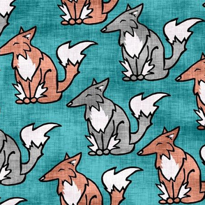 Red Fox, Silver Fox