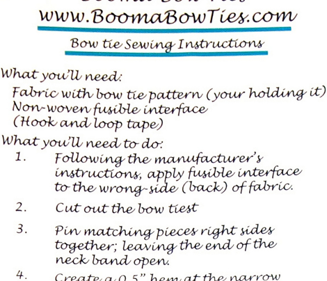 Bow Ties 4 Fabrics with Patterns v2