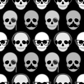 Hipster Skulls Pattern