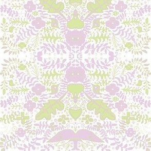 luna garden pale green lavender