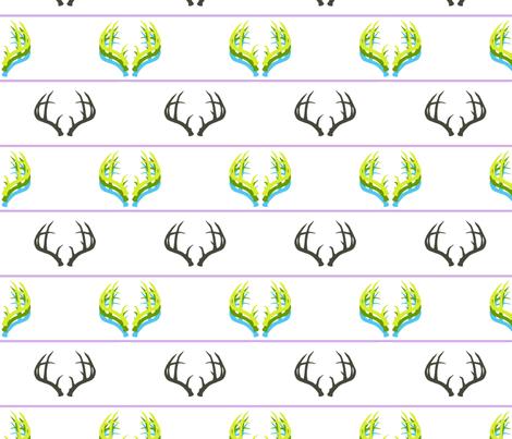 Technicolor Antlers fabric by sharri on Spoonflower - custom fabric