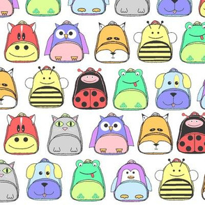 Animal Backpacks Pastel