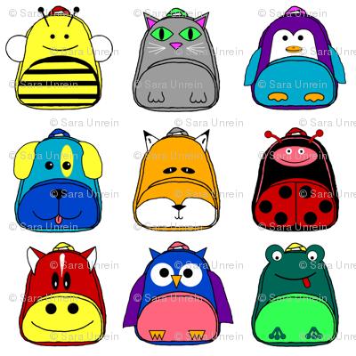 Animal Backpack Nine Patch