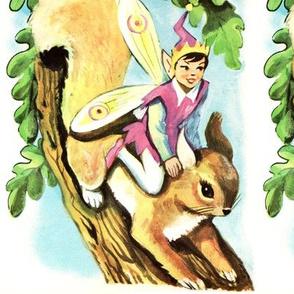 vintage kids elf elves pixies trolls gnomes fairies brownies trees acorns leaves squirrels chipmunk fairy tales children infants toddlers