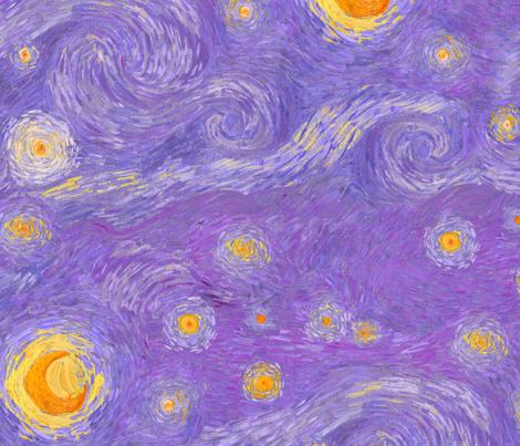 starry, starry twilight fabric by weavingmajor on Spoonflower - custom fabric
