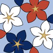 03400582 : S43 floral : bouquet noveau azure