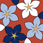 03400594 : S43 floral : bouquet noveau rouge