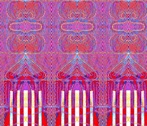 """Skyscraper In Another Light"" fabric by elizabethvitale on Spoonflower - custom fabric"