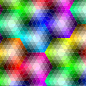 infinite hexagon colour map