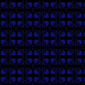 Coneflower Royal Blue on Black