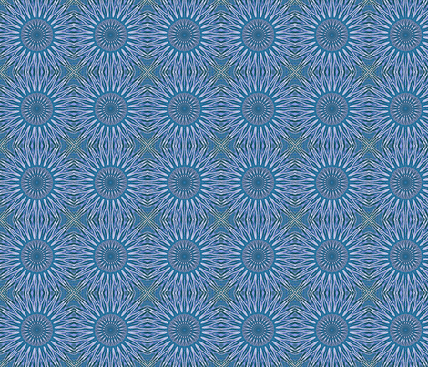 Blue Sun fabric by koalalady on Spoonflower - custom fabric