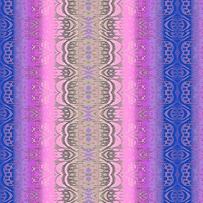Lace Stripe in Blue,pink and purple