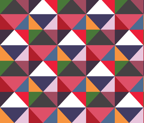 Modernist Triangles ~ Panel B  fabric by peacoquettedesigns on Spoonflower - custom fabric