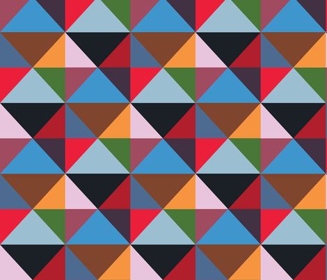 Modernist Triangles ~ Panel C  fabric by peacoquettedesigns on Spoonflower - custom fabric