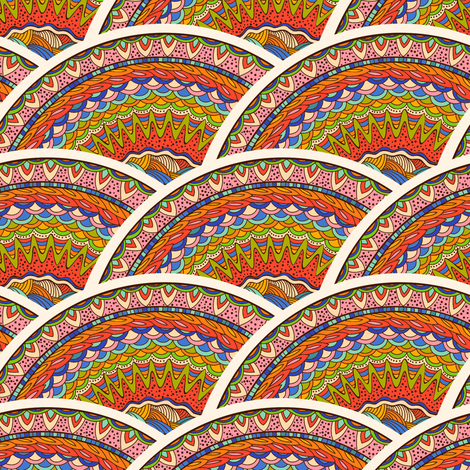 Doodle_Waves fabric by jallom on Spoonflower - custom fabric