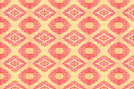 Palatial Peach (small) fabric by mirajeandesigns on Spoonflower - custom fabric