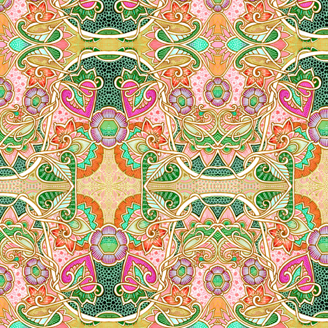 Sine of the Wild Rose fabric by edsel2084 on Spoonflower - custom fabric