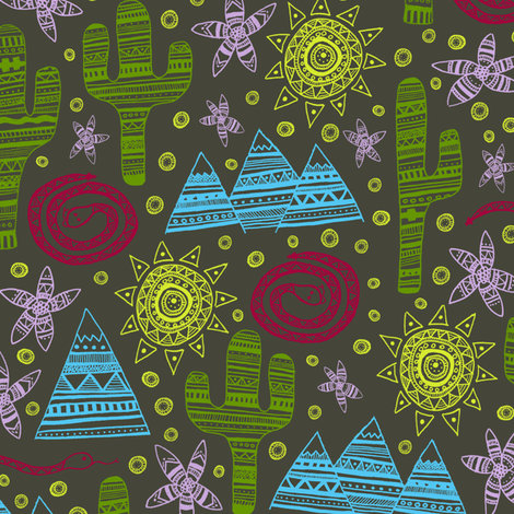 Hiking in the Catalinas fabric by robyriker on Spoonflower - custom fabric
