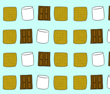 National S'mores Day fabric by cozyreverie on Spoonflower - custom fabric