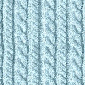 Knitting in blue