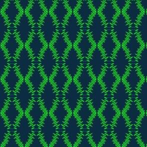 Eyelet Crochet Lace Green Navy