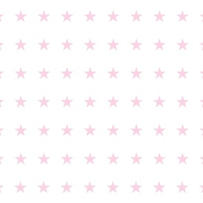 Pink Stars on White - small