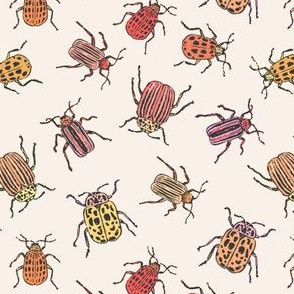 Pretty Beetles | Peach