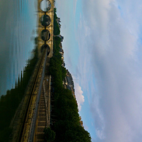 Seine Bridge Border Print