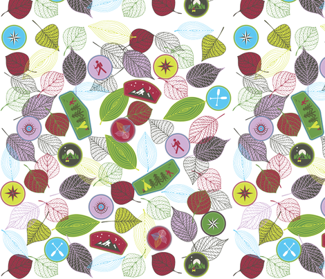 Badge of the wildereness fabric by pamela_hamilton on Spoonflower - custom fabric