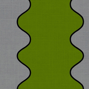 Green Wave on Gray