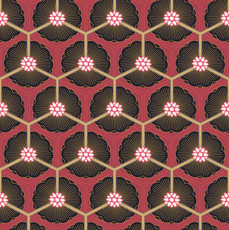 lotus night fabric by keweenawchris on Spoonflower - custom fabric