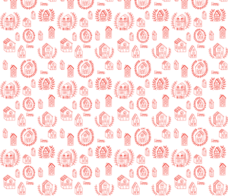 home - red orange fabric by kristinnohe on Spoonflower - custom fabric