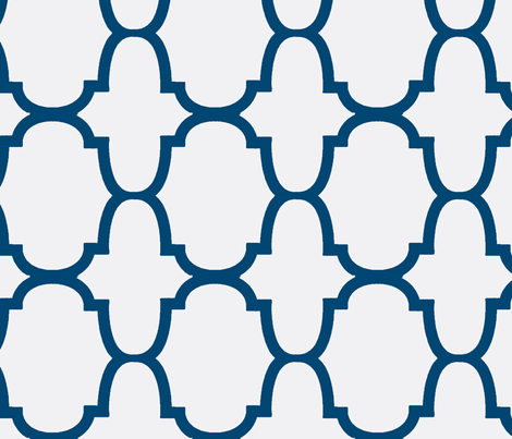 Quatrefoil- True Navy/White-Large fabric by mrsmberry on Spoonflower - custom fabric