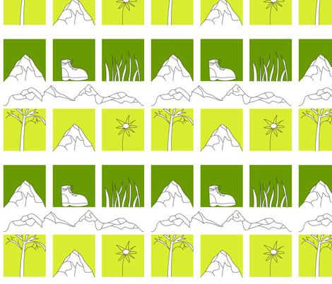 hiking squares fabric by olafdesigns on Spoonflower - custom fabric