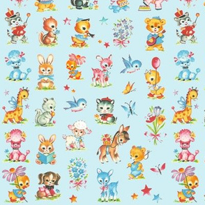 Best Baby animals aqua! poodle dog duck deer giraffe donkey rabbit skunk squirl bluebird elephant teddy bear